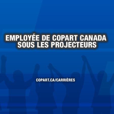 Employée de Copart Canada sous les projecteurs